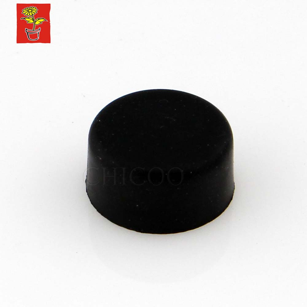 Black Rubber Door Stop 19mm Dia Door Stopper